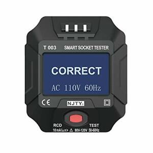 Outlet Tester 90 120v 50 60hz Smart Receptacle Tester With Voltage And Freque