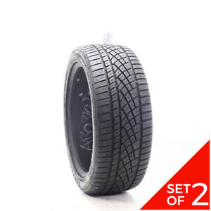 Set Of 2 Used 245 45zr19 Continental Extremecontact Dws06 98y 7 5 8 32