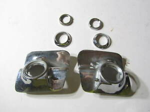 Vintage Oldsmobil Windshield Wiper Washer Bezels Escutcheons With Retaining Nuts
