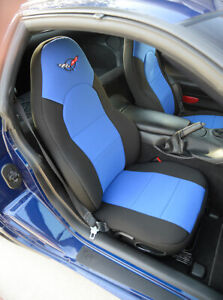 Coverking Neosupreme Custom Fit Seat Covers For Chevy Corvette C5 With Logo