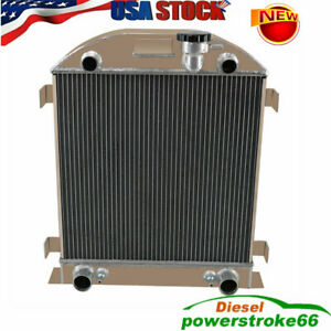 4 Row Aluminum Radiator Fit Ford Model A With Flathead V8 Engine At mt 1928 1929