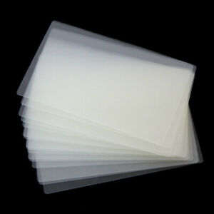 50 X Id Business Credit Card Clear Laminating Pouches Plastic Gloss Sheet Sleeve