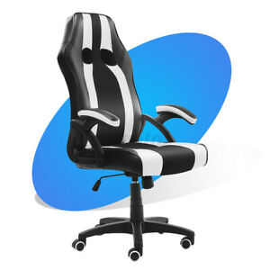 Office Chair Executive Racing Computer Gaming Swivel Desk Seat Chair Pu Leather