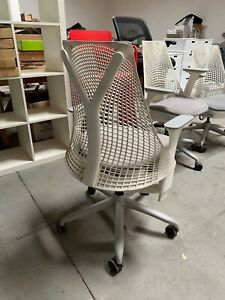 Herman Miller 6 White Sayl Office Chairs