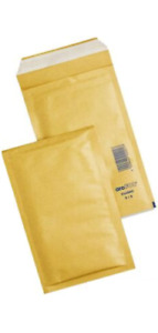 50 X Brown Small 90x145mm Size Padded Bubble Bags Envelope Postage Mailer