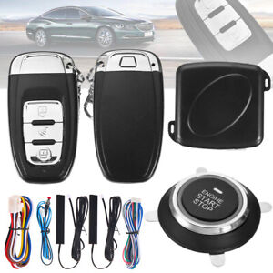 Car Alarm Start System Push Button Remote Starter Keyless Entry Engine Plastic