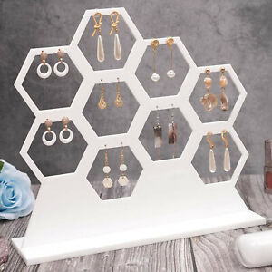 Honeycomb Earring Holder Earring Necklaces Jewelry Organizer For 9 Earrings