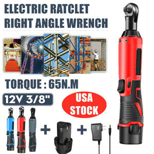 3 8 Chuck 12v 65nm Light Weight Cordless Electric Ratchet Right Angle Wrench