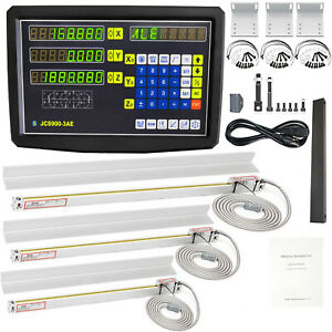 3 Axis Digital Readout Dro Display 5um Precision Linear Glass Scales Lathe Drill