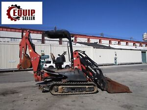 Ditch Witch Xt1600 Backhoe Mini Excavator W Trailer Trencher Hammer Attachment