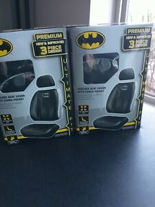 Dc Comics Batman Sideless Seat Cover With Cargo Pocket X2 New