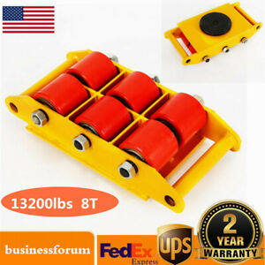 8 Ton Heavy Duty Machine Dolly Skate Roller Machinery Mover 360 Rotation Cap Us