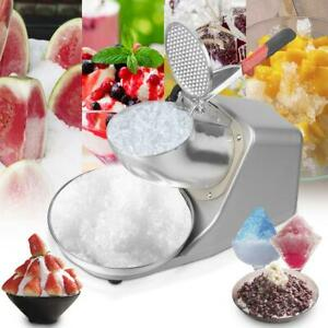 Commercial 143lb Electric Ice Crusher Shaver Machine Snow Cone Maker Shaved Ice