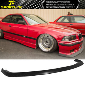 Fits 92 98 Bmw E36 M3 Only 2dr 4dr Ac Style Front Bumper Lip Spoiler Pu