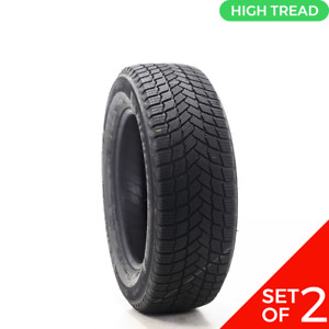 Set Of 2 Driven Once 235 60r17 Michelin X Ice Snow Suv 106t 8 5 32