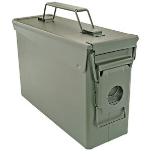 .30 Cal Ammo Can Military Quality Ammunition Bullet Storage Box Brand New Green $19.99