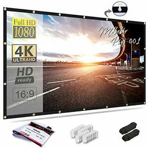 Hd 92 169 Material Foldable Electric Motorized Projector Screen Remote
