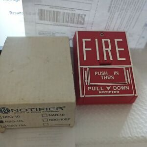 Notifier Fire Alarm Nbg 10 Dual Action Pull Station Nib