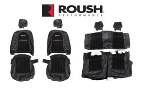 2012 2014 Mustang Convertible Roush Rs3 Front Rear Seat Upholstery Black Orange