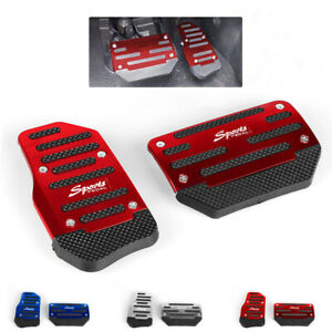 Universal Non Slip Automatic Gas Brake Foot Pedal Pad Cover Car Accessories Red
