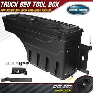 Right Truck Bed Storage Box Toolbox For Ram 1500 2019 2020 2021 New Body Style