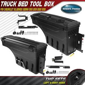 Left Right Truck Bed Storage Box Toolbox For Silverado 1500 Sierra 1500 19 21