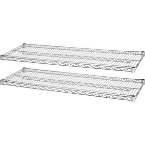 Lorell Industrial Wire Shelving 2 Extra Shelves 48 x18 2 pk Ce 84183