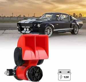 110db Red Car Horn Loud Electronic Air Horn For Motorcycle cars trucks