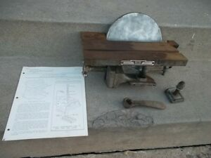 Vintage Rockwell Delta Wood Lathe Sanding Disc And Table Milwaukee Attachment