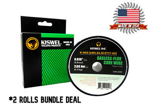 Made In Usa 2 Rolls E71t gs 030 In Dia 2lb Gasless flux Core Wire Welding