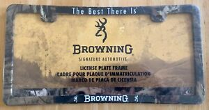 Browning Mossy Oak Plastic Camouflage License Plate Frame Camo Truck Car Auto