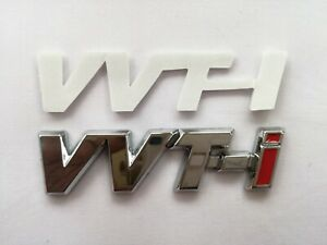 Fit For Toyota Vvti Silver Logo Emblem Sticker Decal Self Adhesive Badge