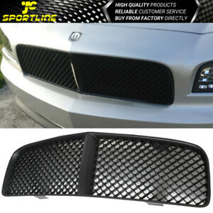 Fits 2005 2010 Dodge Charger B Style Black Abs Front Grille Grill Fits 2010 Dodge Charger