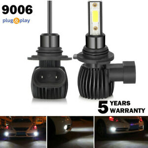 2x 9006 Hb4 Csp Led Headlight Bulbs Kit High Low Beam 6000lm White Super Bright