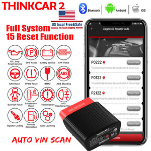 Obd2 Scanner Bluetooth Compatible Full System Abs Srs Auto Diagnostic Tool Sas