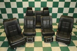 09 14 Navigator Black Leather Heated Cooled Buckets 2nd 3rd Row Seat Set Oem