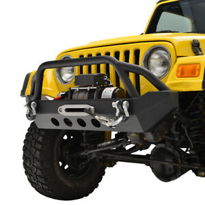Paramount Front Bumper With Winch Plate Fit For 87 06 Jeep Wrangler Tj Yj