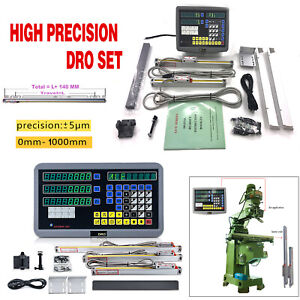 Digital Linear Scale 2axis 3axis Readout Dro Display Kit Cnc Milling Lathe us