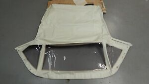 New Nos Amco Convertible Top For Triumph Tr6 Tr250 Made In Usa White Vinyl