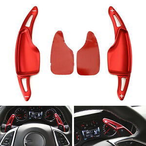 For Chevy 14 20 C7 Corvette Camaro Red Steering Wheel Paddle Shifter Extensions