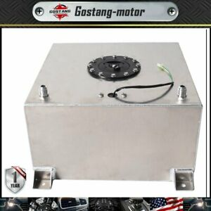 Polished Aluminum 10 Gallon Racing drift street Fuel Cell Gas Tank level Sender