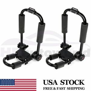 Pair Kayak Roof Rack Universal Cross Bars Canoe Boat For Truck Top Mount Carrier