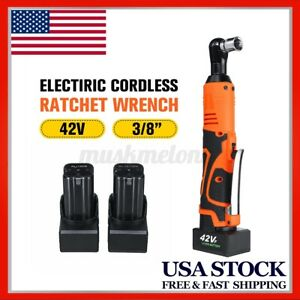 42v 3 8 Rechargeable Cordless Ratchet Wrench Socket Tool 2 Batteries Us