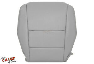 2008 2013 Honda Accord 4 Door Driver Side Bottom Genuine Leather Seat Cover Gray