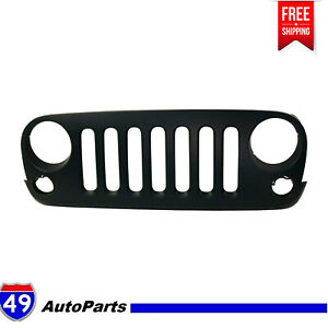 New Front Grill Grille Assembly Black Shell For 2007 17 Jeep Wrangler Ch1200313