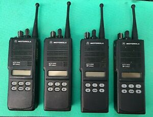 4 Motorola Mts2000 Model Ii Radio H01ucf6pw1bn 800 Mhz With Charger Antenna