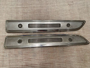 1968 Plymouth Barracuda Left And Right Hood Trim Louvers
