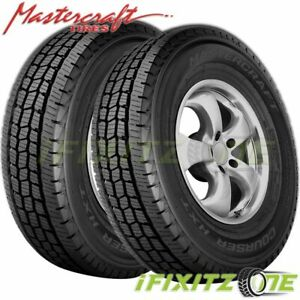 2 X Mastercraft Courser Hxt Lt245 75r16 120r 10 Ply All Season Commercial Tires