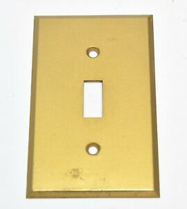 Vintage Brass Single Switch Plate Cover