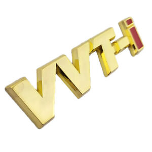 Fit For Toyota Vvti Gold Logo Emblem Sticker Decal Self Adhesive Badge